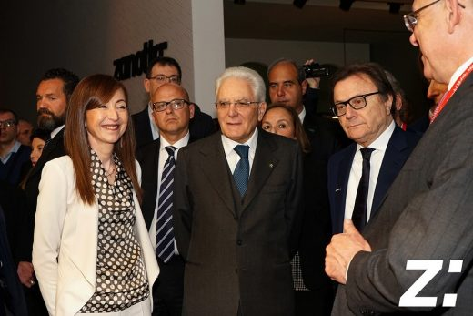 The President of the Italian Republic Sergio Mattarella visited the Zanotta stand at the Milan Furniture fair 2017
