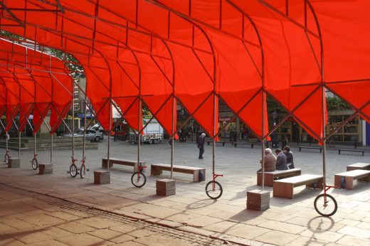 Best Temporary & Demonstration Architecture - Peoples Architecture Office: Peoples Canopy, Preston, U.K.