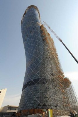 Capital Gate Tower Abu Dhabi building