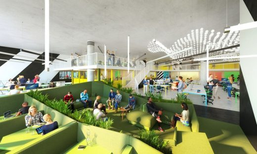 Co-working space at Huckletree West in White City
