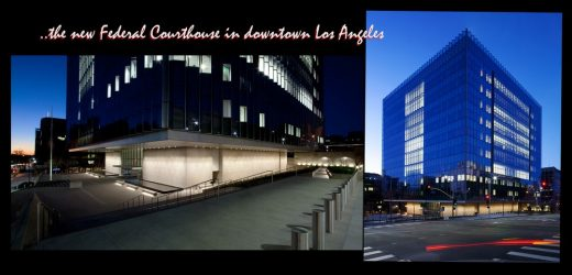 The new Federal Courthouse in downtown Los Angeles