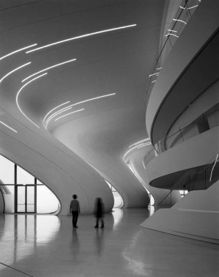 Heydar Aliyev Centre Building interior by Zaha Hadid | www.e-architect.co.uk