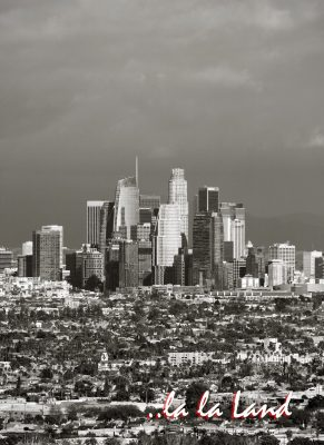 la la Land. Los Angeles downtown skyline