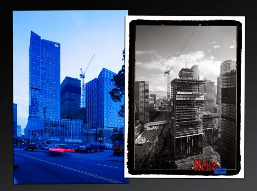 Metropolis construction site in the Southpark district of downtown Los Angeles
