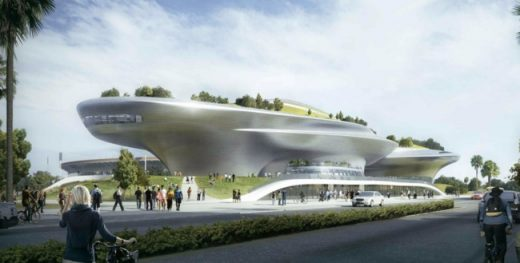 New design for Lucas Museum of Narrative Art Los Angeles | www.e-architect.co.uk