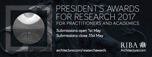 RIBA President's Awards for Research 2017