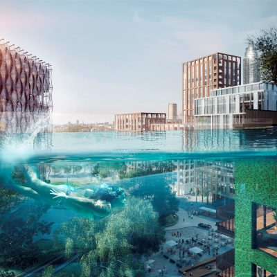 Sky pool at embassy gardens e architect - Apartments with swimming pool london ...