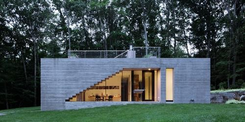 Square House in Stone Ridge, Catskills, NY | www.e-architect.co.uk