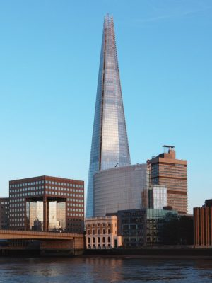 The Shard building in London from North West