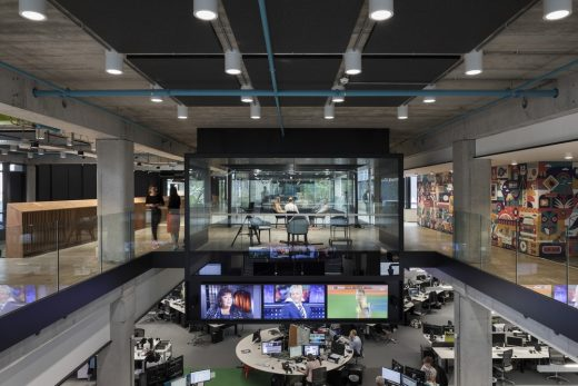 Auckland TVNZ Television Network Centre interior | www.e-architect.com