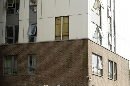 Chalcots Estate cladding ACM panel removed for testing