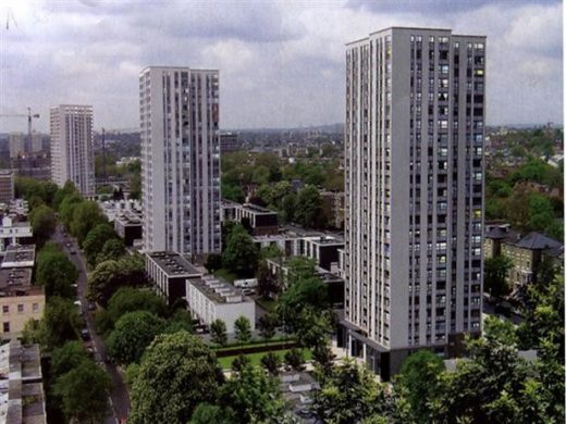 Chalcots Estate towers Camden North London