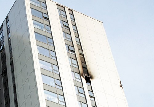 Chalcots Estate flat fire cladding damage