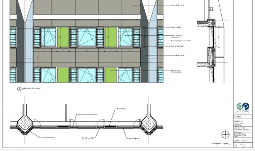 Grenfell Tower elevation and section of a typical floor