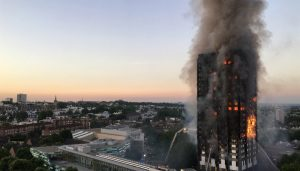 Grenfell Tower fire in West London building