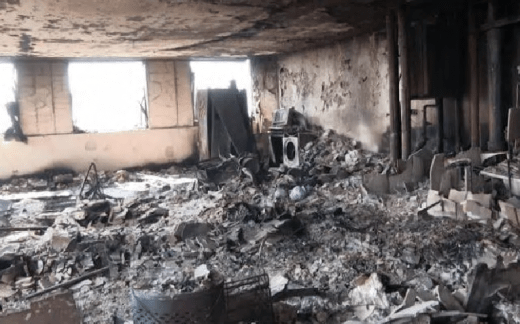 Grenfell Tower flat interior after fire