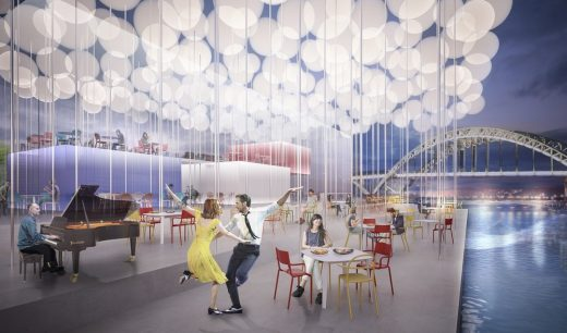 Paris Riverside Restaurant Architectural Competition 3rd Prize