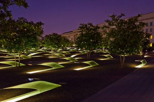 9/11 Pentagon Memorial Visitor Education Center design by Fentress Architects, USA