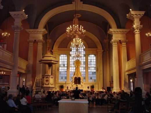 St. Paul's Chapel interior New York City
