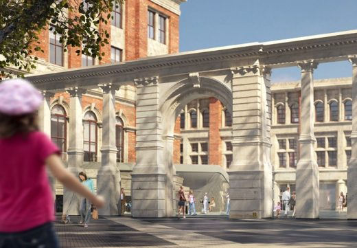 V&A Exhibition Road Project Aston Webb Screen by AL_A