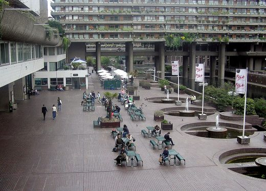 Barbican Centre London architecture landscape | www.e-architect.com