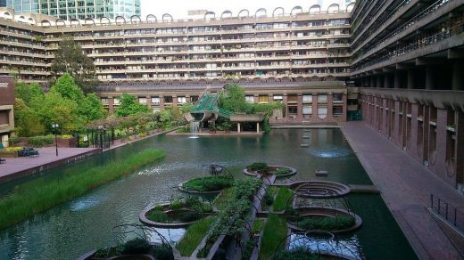 Barbican Centre London builldings and landscape | www.e-architect.com