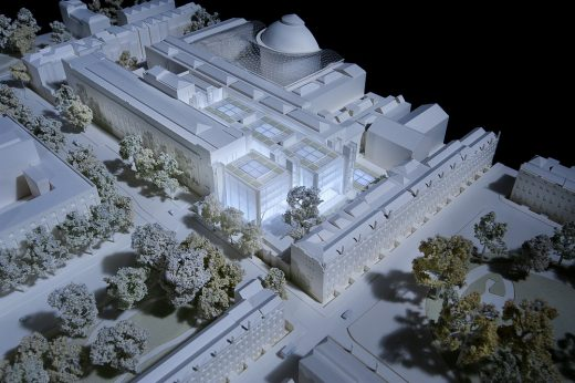 British Museum World Conservation and Exhibitions Centre model