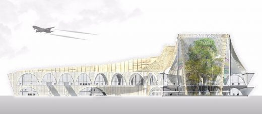 Cartagena Airport Building design by CAZA Architects