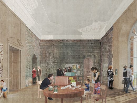 Clandon Park in Surrey Competition design by Sergison Bates Architects