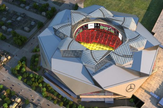Mercedes-Benz Stadium Building Atlanta Georgia