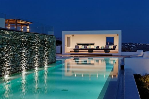 Mykonos Villa pool design in the Cyclades | www.e-architect.co.uk