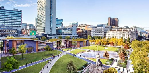 Manchester Piccadilly Gardens Landscape design by Urban Edge Architecture | www.e-architect.co.uk