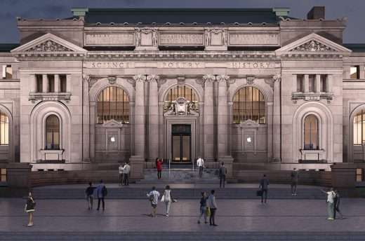 Apple Store at Carnegie Library of Washington D.C. | www.e-architect.co.uk