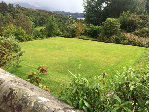 Arisaig House croquet lawn