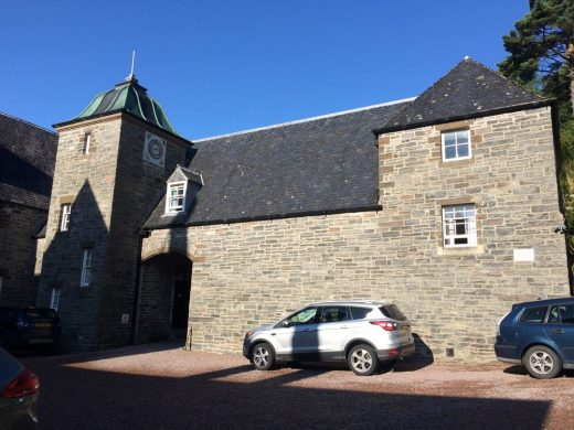 Arisaig House clock tower building