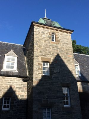 Arisaig House clock tower