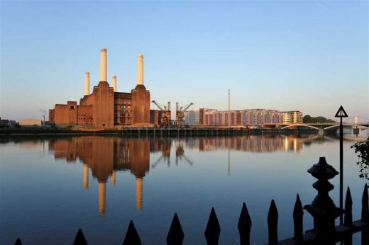 Battersea Power Station building London on Thames