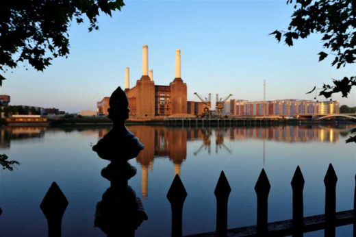 Battersea Power Station London across River Thames