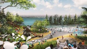 Detroit West Riverfront Park landscape design