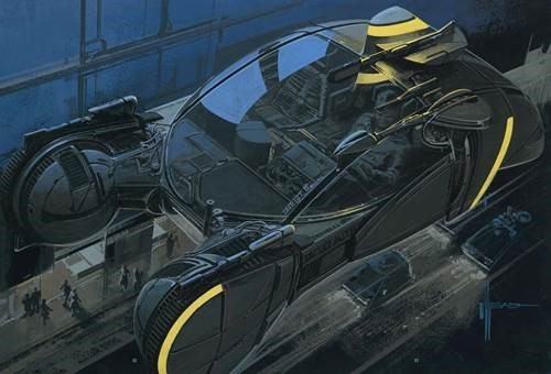 Drawing by Syd Mead