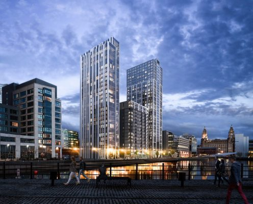 Plaza 1821 and Hive City Docks Liverpool Building News