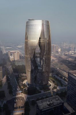 Leeza SOHO Beijing Building by Zaha Hadid Architects