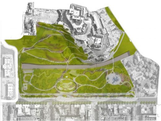 Ross Pavilion International Design Competition masterplan by wHY