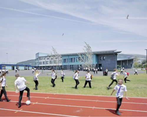 Ysgol Bae Baglan Port Talbot School Building | www.e-architect.co.uk