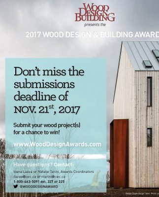 Canadian wood awards entry
