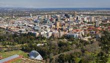 Adelaide architecture aerial view
