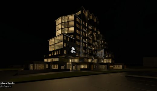 The Gateway Hotel Design Project at night