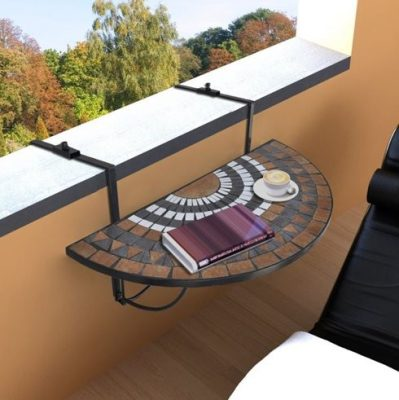 Hanging balcony table