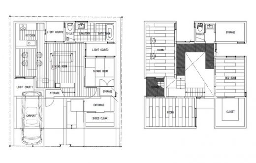 Matsuyacho house plan layout