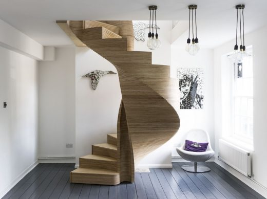 Staircase Wood Interior London design